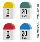 milestone icon | Shutterstock .eps vector #498052453