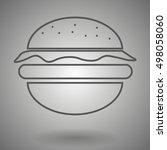 hamburger line icon  burger...