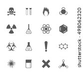 chemical icons set  16 chemical ... | Shutterstock .eps vector #498062320