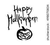 picture happy halloween with... | Shutterstock .eps vector #498070834