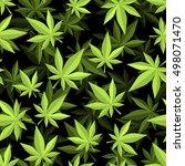 cannabis 3d seamless pattern....   Shutterstock .eps vector #498071470