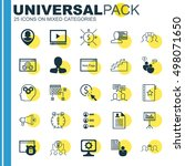 set of 25 universal icons on... | Shutterstock .eps vector #498071650