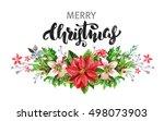 watercolor christmas background | Shutterstock . vector #498073903
