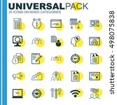 set of 25 universal icons on... | Shutterstock .eps vector #498075838