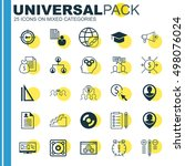 set of 25 universal icons on... | Shutterstock .eps vector #498076024