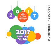 happy new year 2017.christmas...   Shutterstock .eps vector #498077914