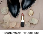 a pair of black women's shoes... | Shutterstock . vector #498081430