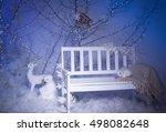 Winter Decoration. Silver Tree...
