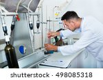 young professional man working... | Shutterstock . vector #498085318