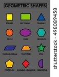 vector. a set of geometric... | Shutterstock .eps vector #498089458