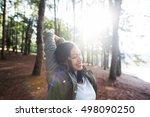 girl travel adventure solitude... | Shutterstock . vector #498090250