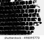 grunge texture  brick wall...   Shutterstock .eps vector #498095773