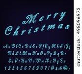 neon glow script typeset.... | Shutterstock .eps vector #498096973
