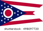 ohioan official flag  symbol.... | Shutterstock .eps vector #498097720