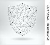 vector net symbol of shield | Shutterstock .eps vector #498101794