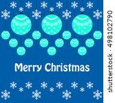 christmas card | Shutterstock .eps vector #498102790