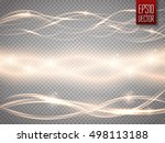 abstract smooth glow light wave ... | Shutterstock .eps vector #498113188