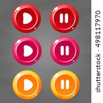 set of cartoon colors buttons....