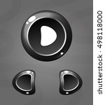 cartoon black buttons. vector...