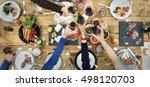 group of people cheers concept | Shutterstock . vector #498120703