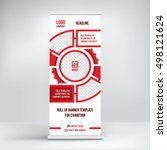 banner roll up design  business ... | Shutterstock .eps vector #498121624