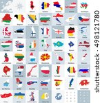 all europe countries maps mixed ... | Shutterstock .eps vector #498121780
