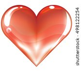 big red heart   isolated on...   Shutterstock .eps vector #498122254