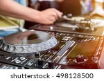 dj playing and mixes track on... | Shutterstock . vector #498128500