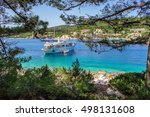 boats in the port of fiscardo... | Shutterstock . vector #498131608