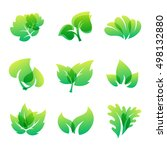 green leaf eco design element... | Shutterstock .eps vector #498132880