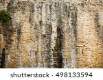 Surface Of Old Stone Wall Of A...