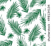 seamless pattern with brush... | Shutterstock .eps vector #498134134