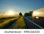trucks moving against each... | Shutterstock . vector #498136333