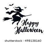happy halloween. silhouette... | Shutterstock .eps vector #498138160