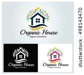 organic house logo design...