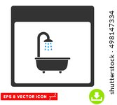 shower bath calendar page icon. ... | Shutterstock .eps vector #498147334