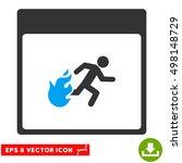 fire evacuation man calendar... | Shutterstock .eps vector #498148729