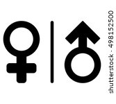 wc gender symbols icon. glyph... | Shutterstock . vector #498152500