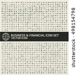 business and finance icon set... | Shutterstock .eps vector #498154798