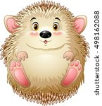 cute baby hedgehog | Shutterstock .eps vector #498162088