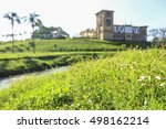 Small photo of PERAK, MALAYSIA - 24 JANUARY 2016; View of Kellie's Castle, Perak Malaysia in blur image, soft focus for mystery or spook mood