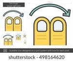 two finger swipe right vector... | Shutterstock .eps vector #498164620
