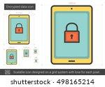 encrypted data vector line icon ...   Shutterstock .eps vector #498165214