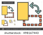object rotate vector line icon... | Shutterstock .eps vector #498167443