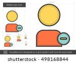 delete user vector line icon... | Shutterstock .eps vector #498168844