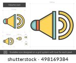 volume vector line icon...