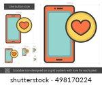 like button vector line icon... | Shutterstock .eps vector #498170224