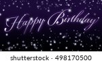 happy birthday banner   great... | Shutterstock . vector #498170500
