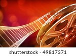 cinema film reel  red colors  | Shutterstock . vector #49817371