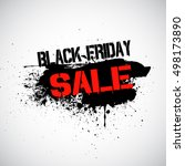 grunge black friday sale... | Shutterstock .eps vector #498173890
